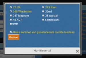 Markxman Online - Ledenadministratie - munitieverlof